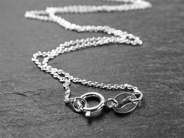 Sterling Silver Fine Cable Chain Necklace With Spring