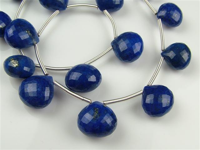 AA Lapis Lazuli Micro-Faceted Heart Briolette ~ SINGLE