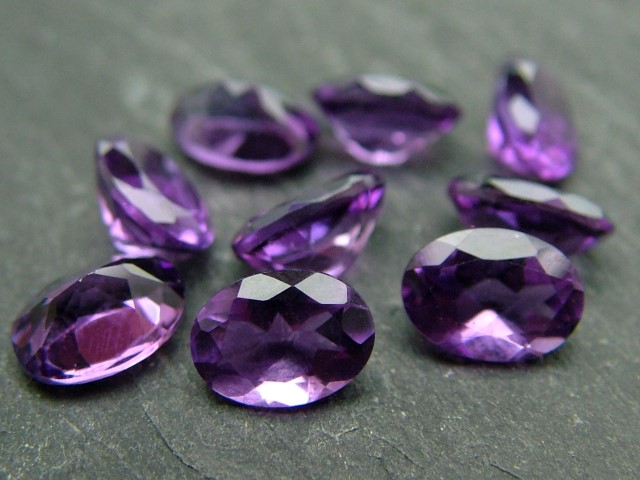 African Amethyst Faceted Oval ~ Various Sizes