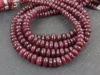 Ruby Faceted Rondelles 4.25-6.25mm ~ 8'' Strand