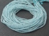 AAA Aquamarine Micro-Faceted Rondelles 2mm ~ 13'' Strand