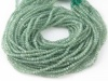 AA Green Kyanite Micro-Faceted Rondelles 2.25mm ~ 12.5'' Strand