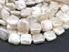 Freshwater Pearl Ivory Square Beads 12mm ~ 16'' Strand
