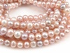 Freshwater Pearl Mixed Colour Potato Beads 6.5-7mm ~ 16'' Strand