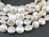 Freshwater Pearl Coin Beads 9-10mm ~ 16'' Strand