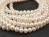 Freshwater Pearl Ivory Potato Beads 4.5mm ~ 16'' Strand