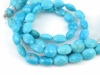 AA Arizona Turquoise Faceted Oval Beads 8mm x 6mm ~ 7'' Strand