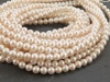 Freshwater Pearl Ivory Off-Round Beads 3.5-4mm ~ 16'' Strand
