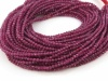 Ruby Micro-Faceted Rondelles 2mm ~ 15.5'' Strand