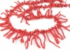 Red Coral Nugget and Frond Beads ~ 20'' Strand