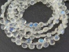 AA Rainbow Moonstone Smooth Heart Briolettes 5-6mm ~ 8'' Strand