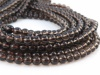 AA Smoky Quartz Smooth Round Beads ~ Various Sizes ~ 15.5'' Strand