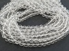 AAA Crystal Quartz Smooth Round Beads ~ Various Sizes ~ 15'' Strand