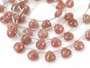 AA+ Rhodochrosite Micro-Faceted Heart Briolettes 8-9mm ~ 8'' Strand