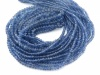 AA Blue Sapphire Smooth Rondelles 2.25-4.25mm ~ 17'' Strand