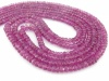 AA+ Pink Tourmaline Micro-Faceted Rondelles 2.5-4.5mm ~ 16'' Strand