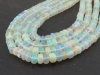 AA Ethiopian Opal Smooth Rondelle Beads 3-5mm ~ 17'' Strand