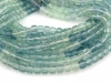 AAA Fluorite Faceted Cube Beads 4mm ~ 12.5'' Strand