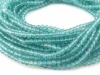 AAA Ocean Apatite Micro-Faceted Round Beads 2.75mm ~ 12.5'' Strand