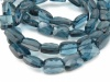 AA+ London Blue Topaz Rectangle Beads 8mm ~ 8'' Strand