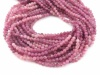 Pink Tourmaline Faceted Round Beads 3mm ~ 12.5'' Strand