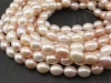 Freshwater Pearl Mixed Colour Rice Beads 12-13mm ~ 16'' Strand