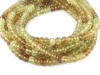 AA+ Grossular Garnet Micro-Faceted Rondelles 4.25-5mm ~ 8.5'' Strand