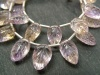 AAA Ametrine Carved Leaf Briolettes ~ Various Sizes
