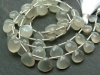 AA+ Grey Moonstone Faceted Heart Briolettes ~ Various Sizes