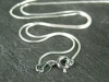 Sterling Silver Snake Chain (0.75mm) Necklace with Spring Clasp ~ 18''