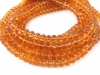 AAA Madeira Citrine Micro-Faceted Rondelles ~ Various Sizes ~ 8'' Strand