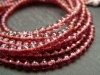AA+ Rhodolite Garnet Micro-Faceted Rondelles ~ Various Sizes ~ 8'' Strand