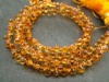 AAA Citrine Faceted Teardrop Briolettes 5.5-6mm ~ 9'' Strand