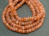 Sunstone Smooth Rondelle Nuggets 6-7mm ~ 14'' Strand