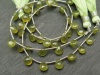 AA Vesuvianite Faceted Heart Briolettes ~ 8'' Strand
