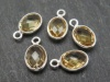 Sterling Silver Citrine Oval Charm 11-12mm