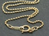 Gold Filled Bead Chain Necklace with Spring Clasp ~ 16''