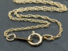 Gold Filled Rope Chain Necklace with Spring Clasp ~ 20''