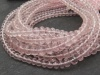 AAA Rose Quartz Micro-Faceted Rondelles ~ Various Sizes ~ 8'' Strand
