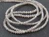 Silver Grey Diamond Faceted Beads 1.75-2.75mm ~ 15'' Strand