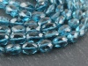 AA+ London Blue Topaz Faceted Oval Beads 6-9mm ~ 15'' Strand
