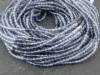 AAA Shaded Iolite Micro-Faceted Rondelles 2-2.5mm ~ 13'' Strand