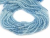 AAA Shaded Aquamarine Micro-Faceted Rondelles 2mm ~ 13'' Strand