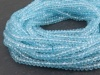 AAA Sky Blue Topaz Micro-Faceted Rondelles 4mm ~ 17'' Strand