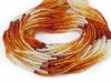 AAA Fire Opal Micro Faceted Rondelles 2mm ~ 13'' Strand