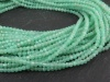 AAA Chrysoprase Micro-Faceted Rondelles 2mm ~ 13'' Strand