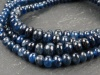 AA Blue Sapphire Smooth Rondelles 3.25-4.25mm ~ 8.5'' Strand
