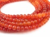 AA+ Carnelian Micro-Faceted Rondelles ~ Various Sizes ~ 8'' Strand