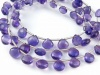 AA+ Amethyst Micro-Faceted Heart Briolettes 7-7.75mm ~ 9'' Strand