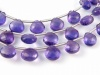 AA+ Amethyst Micro-Faceted Heart Briolettes 6.5-7.25mm ~ 9'' Strand